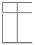 window combination 2 wide transom over 2 wide